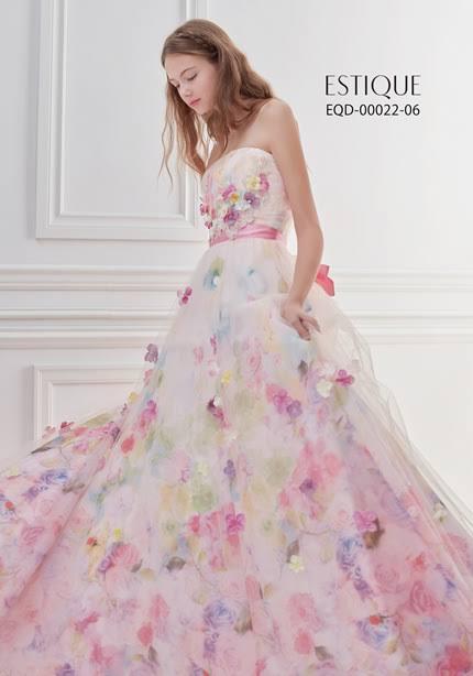 ESTIQUEのカラードレス