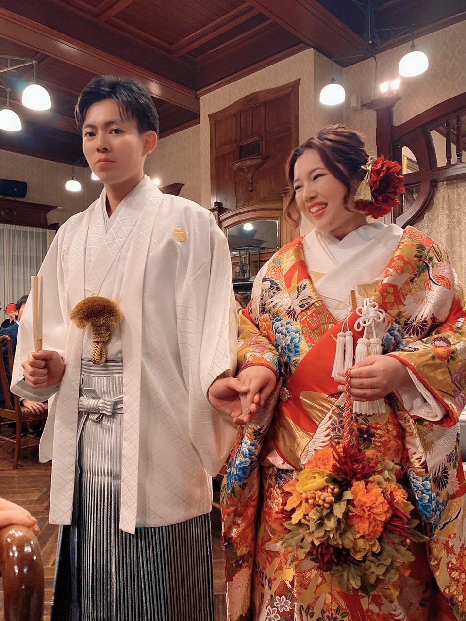 レンタル色打掛とレンタル紋付袴